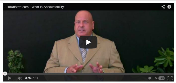 Jim Kristoff on Accountability